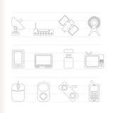 De communicatie pictogrammen van de technologie en Royalty-vrije Stock Afbeelding
