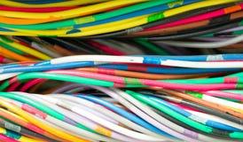 De Communicatie van de telefoon Kabel van Draden Stock Foto