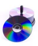 De compact-discs van de stapel stock foto's