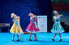 De competities van de kinderen van 'MegaDance' in choreografie, 28 November 2015 in Minsk, Wit-Rusland royalty-vrije stock fotografie
