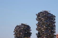 De complexe bouw van Bosco Verticale Vertical Forest Royalty-vrije Stock Fotografie