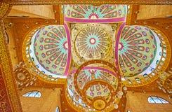 De complexe koepel van Al Sahaba-moskee in Sharm el Sheikh, Egypte Royalty-vrije Stock Foto