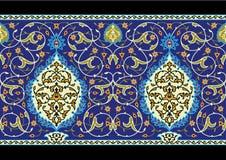 De Complexe Naadloze Grens van Tabriz Stock Afbeelding