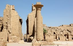 De complexe Tempel Karnak. Stock Fotografie