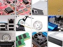 De componenten van de computer Stock Afbeeldingen