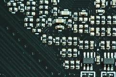 De componenten van de halfgeleiderelektronika stock afbeeldingen