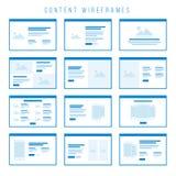 De componenten van inhoudswireframe voor prototypen Royalty-vrije Stock Foto