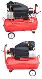 De compressor van de lucht met het knippen van weg royalty-vrije stock foto