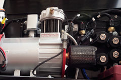 De compressor van de lucht op apparatuur Stock Foto's