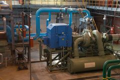 De compressor van het gas Stock Afbeeldingen