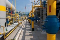 De compressorpost van het gas Stock Afbeeldingen