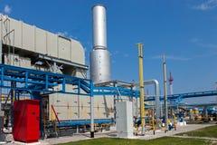 De compressorpost van het gas Stock Foto's