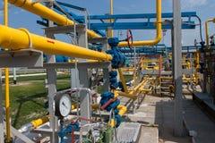 De compressorpost van het gas Royalty-vrije Stock Afbeeldingen