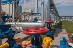 De compressorpost van het gas Stock Afbeelding