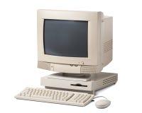 De computadora personal viejo aislada en el fondo blanco imagenes de archivo