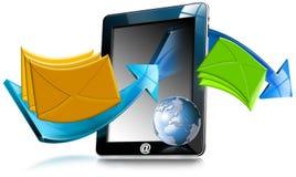 De Computer E-mail van de tablet Stock Fotografie
