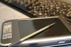 De computer en het notitieboekje van Porket Stock Afbeelding