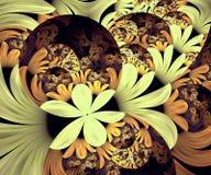 De computer produceerde abstract kleurrijk fractal kunstwerk stock illustratie