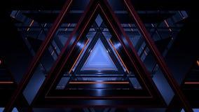 De computer produceerde abstracte futuristische driehoeksgang in rustig Stock Illustratie