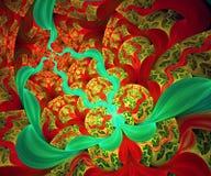 De computer produceerde kleurrijk gegevens verwerkt fractal kunstwerk Royalty-vrije Illustratie
