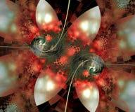 De computer produceerde kleurrijk gegevens verwerkt fractal kunstwerk Stock Illustratie