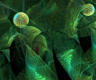 De computer produceerde kleurrijk gegevens verwerkt fractal kunstwerk Vector Illustratie