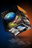 De computer van de bedrijfs marketing identiteitskaart Stock Afbeelding