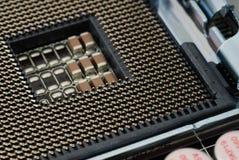 De computer van de contactdoos motheboard royalty-vrije stock fotografie