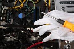 De computer van de reparatie Royalty-vrije Stock Fotografie