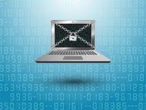 De computer van de slotveiligheid Stock Illustratie