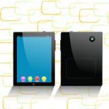 De computer van de tablet en mobiele telefoon Stock Foto