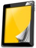 De Computer van de tablet met Gele gids Royalty-vrije Stock Afbeelding