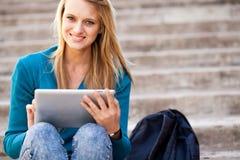 De computer van de tablet in openlucht Royalty-vrije Stock Foto
