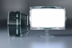 De Computer van het glas Royalty-vrije Stock Afbeelding