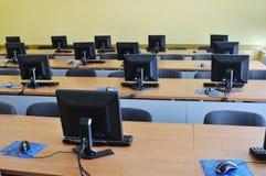 De computer van het klaslokaal Stock Foto's