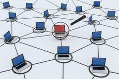De computer van het onderzoek stock afbeelding