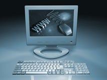 De computer van het Web royalty-vrije illustratie