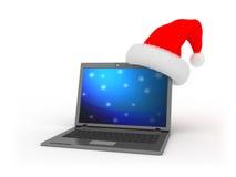 De computer van Kerstmis stock illustratie