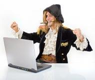 De computer van Pirat Stock Afbeeldingen