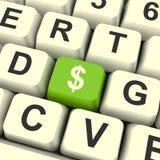 De Computer Zeer belangrijk Tonend Geld of Investering van het dollarsymbool Royalty-vrije Stock Foto