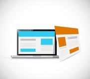 De computerbrowser van het Webmalplaatje Stock Afbeeldingen