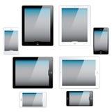 De computers van de tablet en mobiele telefoons Stock Afbeelding