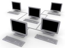 De computers van het netwerk royalty-vrije illustratie