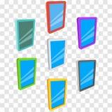 De computers van tabletpc met het lege scherm op transparant royalty-vrije illustratie