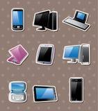 De computerstickers van het beeldverhaal Stock Afbeelding