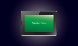 De computertablet van PlayBook van de braambes - moordenaar IPad Stock Foto's