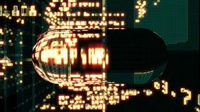 De Computertechnologie van de gegevenscode royalty-vrije illustratie