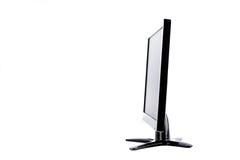 De computervertoning van de vertoningsmonitor op de witte geïsoleerde technologie van de achtergrondhardwaredesktop Royalty-vrije Stock Foto