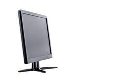 De computervertoning van de vertoningsmonitor op de witte geïsoleerde technologie van de achtergrondhardwaredesktop Royalty-vrije Stock Afbeeldingen