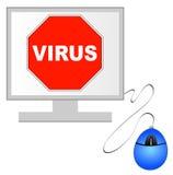 De computervirus van het einde Stock Foto's